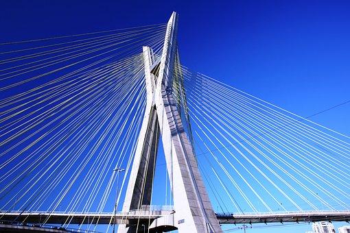 Bridge, Cable-stayed, São Paulo, Architecture, Modern