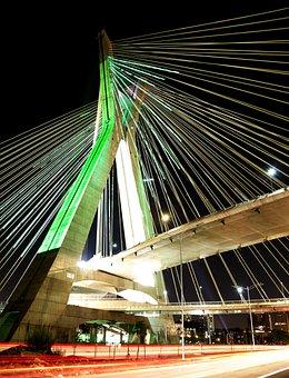Bridge, Suspended On Cables, São Paulo, Architecture
