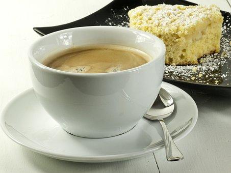 Cake, Coffee, Sheet Cake, Coffee Table, Pastries