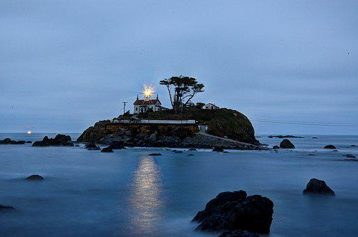 Usa, America, Crescent City, California, Lighthouse