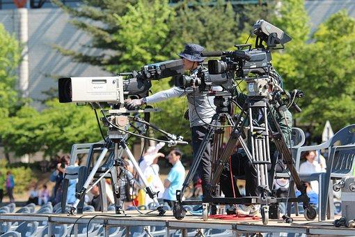 Camera, Video, Video Camera, Broadcasting, Shooting