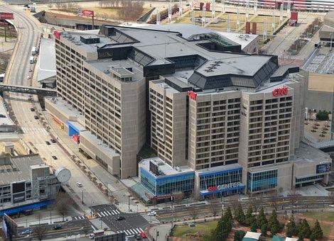 Cnn Building, News, Aerial View, Cityscape, Landscape