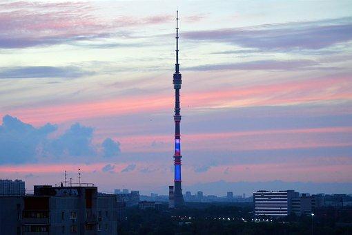 Television, Radio, Tower, Communication, Sunset, Sky
