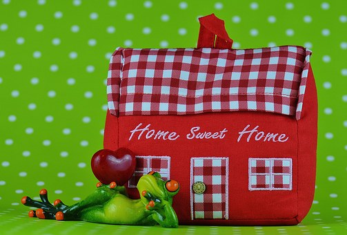 Home, Frog, Heart, At Home, Fabric, Decoration