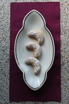Cookie, Crescents, Vanilla, Bake, Ornament, Decoration