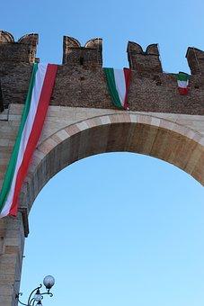 Verona, Italy, Flag, Door