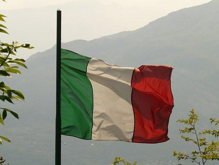 Flag, Italy, Blow, Flutter, Green, White, Red