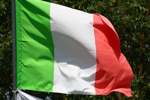 Flag, Italy, Italian, Wave, Nation, Patriotic, Rome