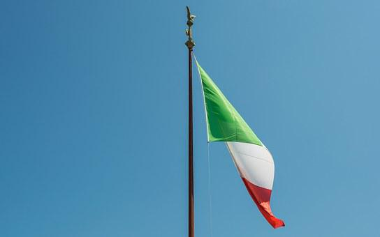 Rome, Flag, Monument To Vittorio Emanuele Ii