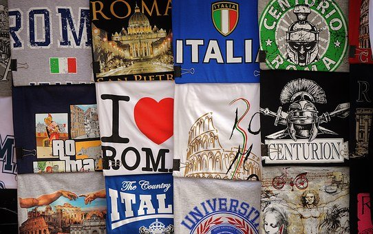 T-shirts, Italian, Italy, Flags, Clothing, Souvenirs