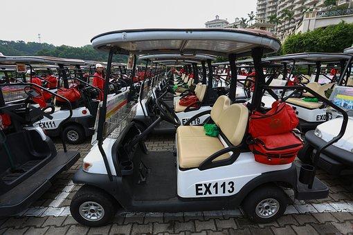 Golf Cart, Mission Hills, Red