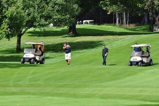 Golf, Golf Carts, Golfer, Golfing, Fairway, Swing