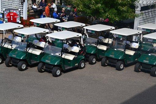 Golf Club, Car, Cart, Golf Cart, Golf, Sports, Outdoors