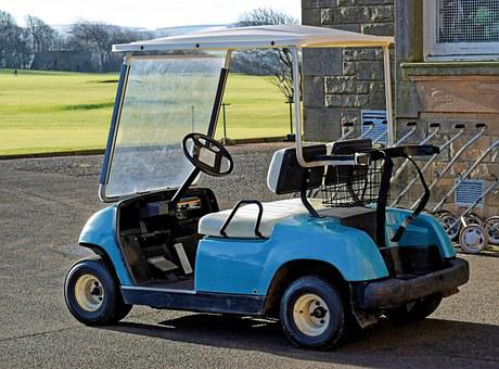 Golf, Buggy, Cart, Leisure, Lifestyle, Green, Sport