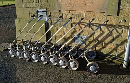 Golf, Trolley, Hire Carts, Carts, Leisure, Recreation
