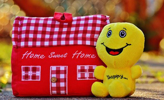 House, At Home, Smiley, Happy, Cheerful, Cute, Funny