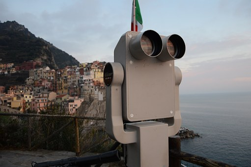 Italy, Binoculars, Holiday, Ancient, Houses