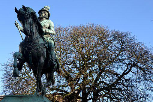 Tree, Horse, Statue, Equestrian