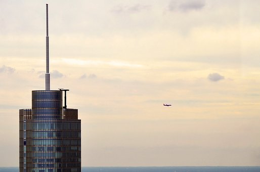 Trump, Tower, Chicago, Illinois, Downtown, City Center