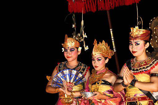 Bali, Dancers, Culture, Symbolism, Indonesian, Colors