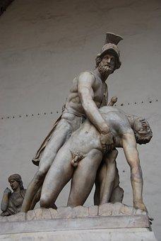 Florence, Patroclo, Menelaus, Loggia Of Lanzi, Tourism