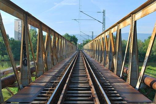 Railway Bridge, Dangerous, Metal, Unsecured, Bulgaria