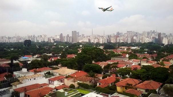 São Paulo, Brazil, Vista, Plane, Landing, Metropolis