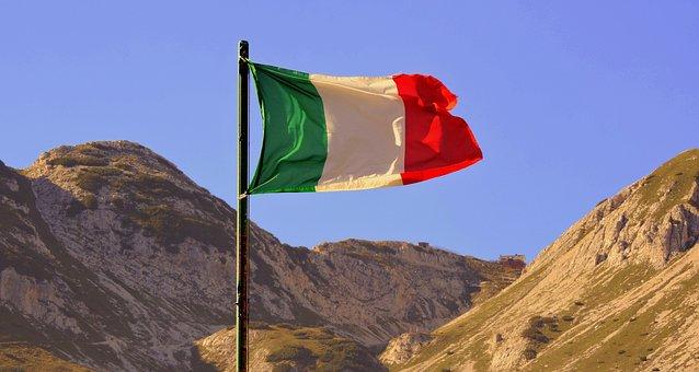 Flag, Italy, Auction, Tricolor, Mountain, Carega