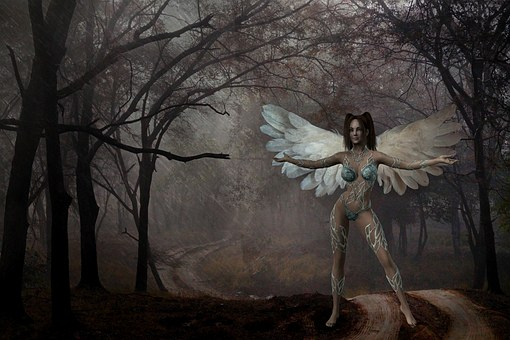 Woman, Angel, Wing, Digital Art, Mystical, Fantasy