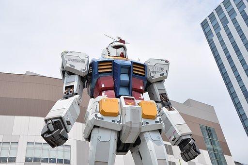 Gao 達, Odaiba, Mobile Suit Gundam, Robot, Statue