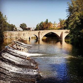 Bridge, River, Arga Archaeology, Pamplona, Old, Stone