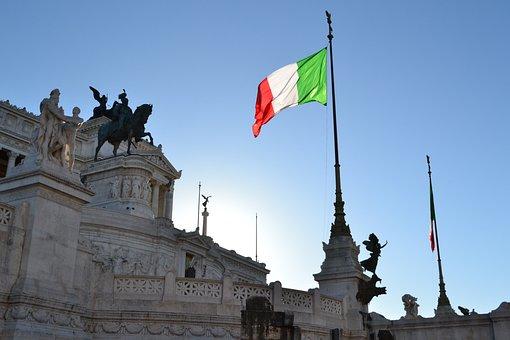 Italy, Rome, Vittoriano, Italian Flag, Italian, Palace