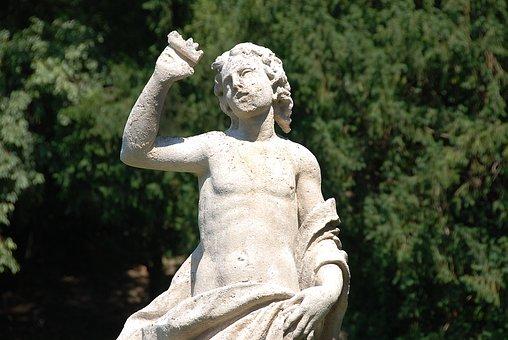 Statue, Stone Figure, Garden Statue, Palazzo Giusti