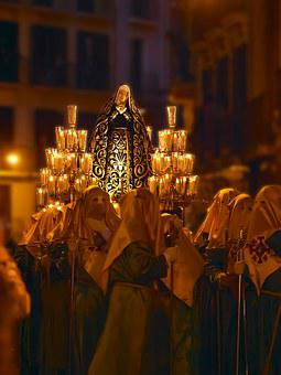 Procession, Blessed Virgin Mary, Painful, Pamplona