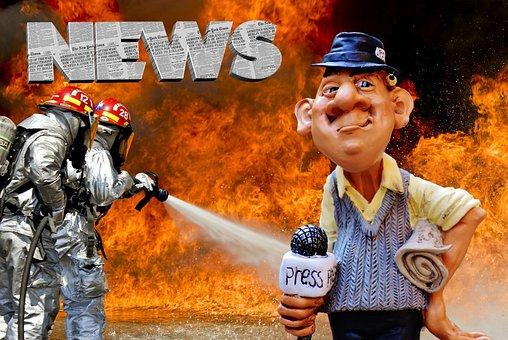 Press, Journalist, Disaster, News, Headlines