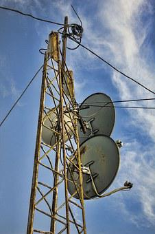 Antenna, Disc, Old, Rusty, Satelite, Dish, Technology