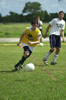 Soccer, Scrimmage, Boys, Players, Males, Athletes, Game