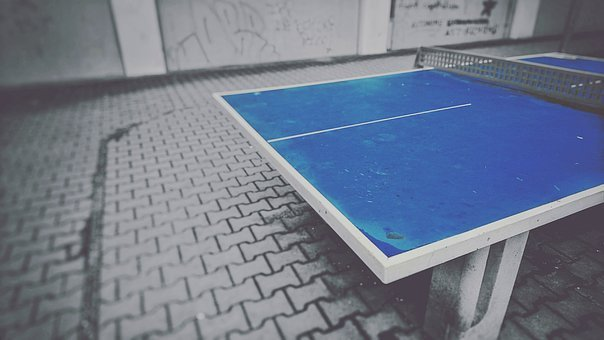 Table Tennis, Ping-pong, Ping-pong Table, Sport, Blue