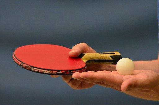 Table Tennis, Ping-pong, Table Tennis Bat, Bat, Sport