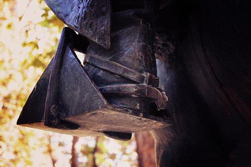 Stirrup, Rider, Equestrian Sculpture, Spur, Bronze