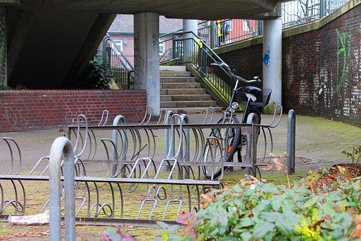 Bike Racks, Bike, Stand, Turn Off, Parking Possibility