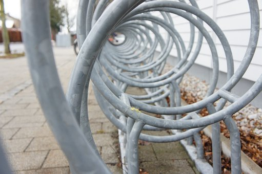 Bike Racks, Circle, Stand, Parking Possibility, Steel
