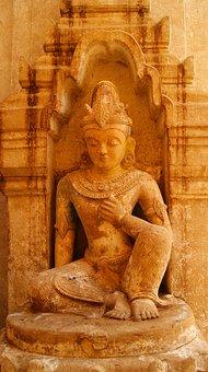 Buddha, Statue, Buddhism, Temple, Bagan, Religion, Asia