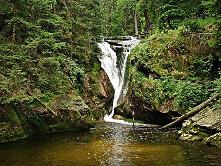Landscape, Waterfall, Brook, Mountains, Nature, Tatry