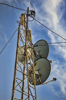 Antenna, Disc, Old, Rusty, Satelite, Dish, Technology