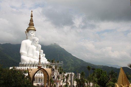Mountain, Temple, Buddha, Religion, Travel, Asia