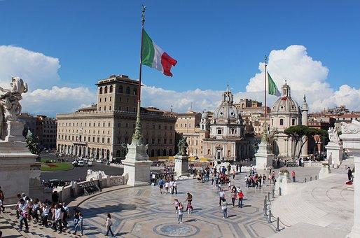Vittorio Emanuele Monument, Rome, Venetian Square