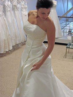 Bride, Woman, Wedding, Gown, Dress, White, Bridal