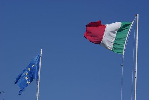 Flag, Italy, Italian Flag, Italy Flag, Wind, Ue