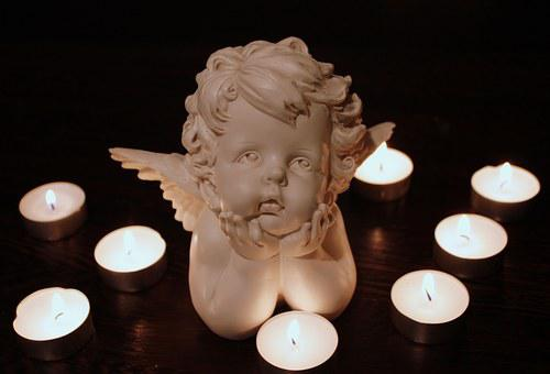 Angel, Angel Face, Hands, Sweet, Wing, Figure, Small
